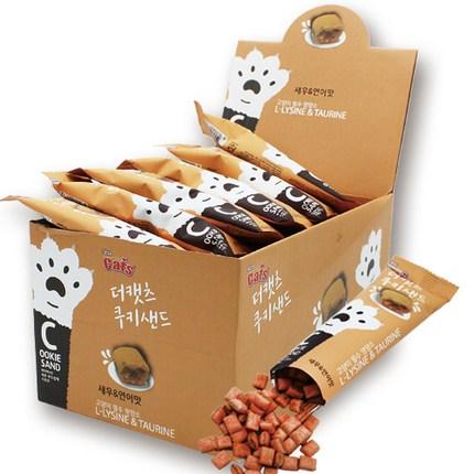 더캣츠 쿠키샌드 고양이간식 20g, 새우 + 연어 혼합맛, 30개