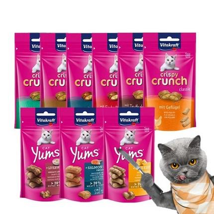 비타크래프트 크리스피 크런치 고양이간식, 크리스피 크런치 몰트 60g