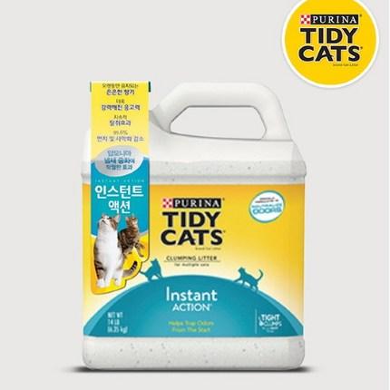 타이디캣 인스턴트 액션 고양이모래, 6.35kg, 3개