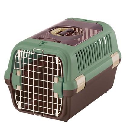 릿첼 캠핑캐리 더블도어 애견 강아지 고양이 켄넬 이동가방 이동장 케이지 캐리어, 그린