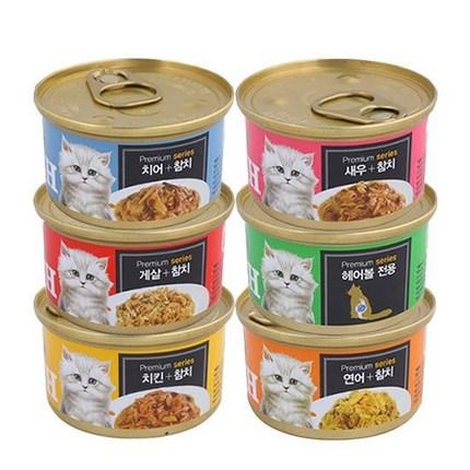프리미엄 골드 GOLD 런치캔 6종 모음 고양이캔, 07. 혼합구성 24개(품절된맛은 제외됨), 상세설명 참조
