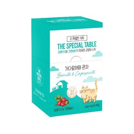더특별한식탁 고양이 스틱 10g, 가다랑어 + 관자 혼합맛, 30개
