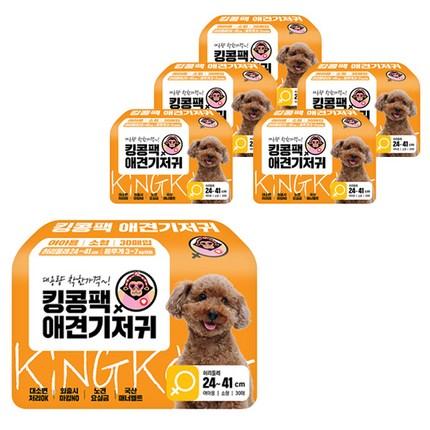 킹콩팩 강아지 기저귀 여아용 30p, 소형, 6개