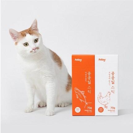펫띵 고양이 저염 건강 츄르 공공일스틱, 10박스, 무항생제 닭가슴살