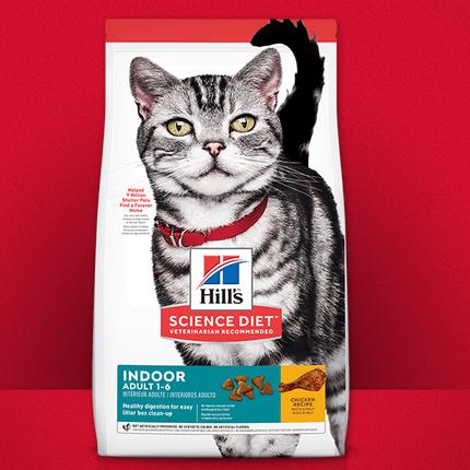 힐스 고양이 사료 어덜트 인도어(치킨)1-6, 1.6kg, 치킨