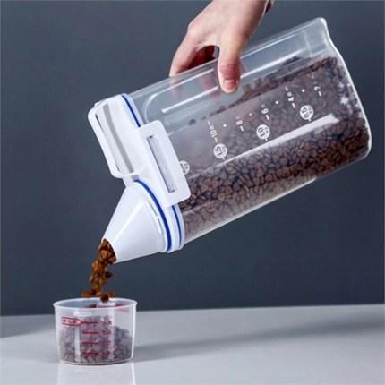 [칼리펫] 반려동물 사료 밀폐용기 2.5L/사료보관통 2kg, 2.5L