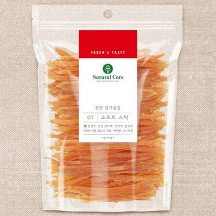 네츄럴코어 천연간식 애견간식 사사미 + 만도스페샬푸드4p, 1개, 07치킨소프트 스틱180g