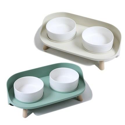 강아지 고양이 밥그릇 물그릇 도자기 식기 식탁 강아지밥그릇 강아지밥그릇2구, 1, 카키
