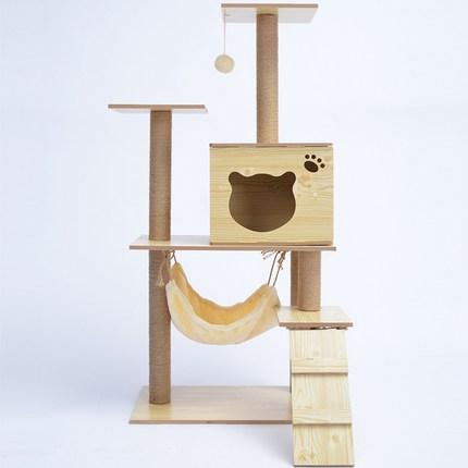 캣타워 DIY 원목 고양이 놀이터 집 해먹 포함 펫초이스