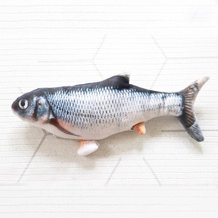 죠스펫 팔당물고기 움직이는물고기 움직이는고양이장난감 움직이는강아지장난감 춤추는물고기, 1개, (청어) 움직이는장난감 팔당물고기