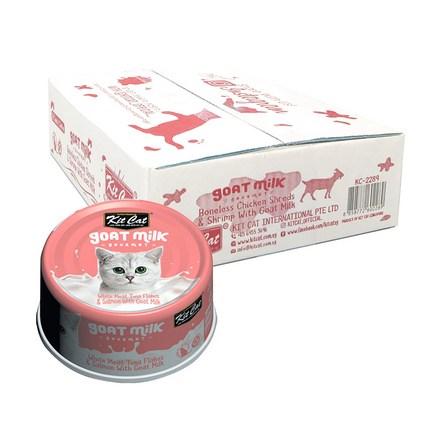 킷캣 고양이 간식 캔 산양유 70g, 흰살참치 + 연어혼합맛, 24개
