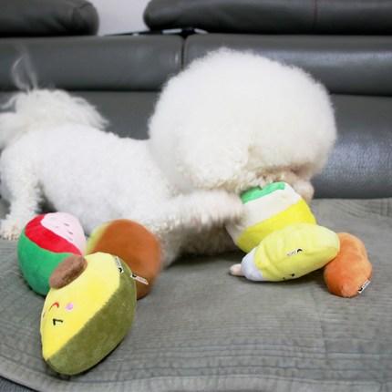 리스펫 강아지 디저트 봉제인형 장난감 6종 세트, 1세트