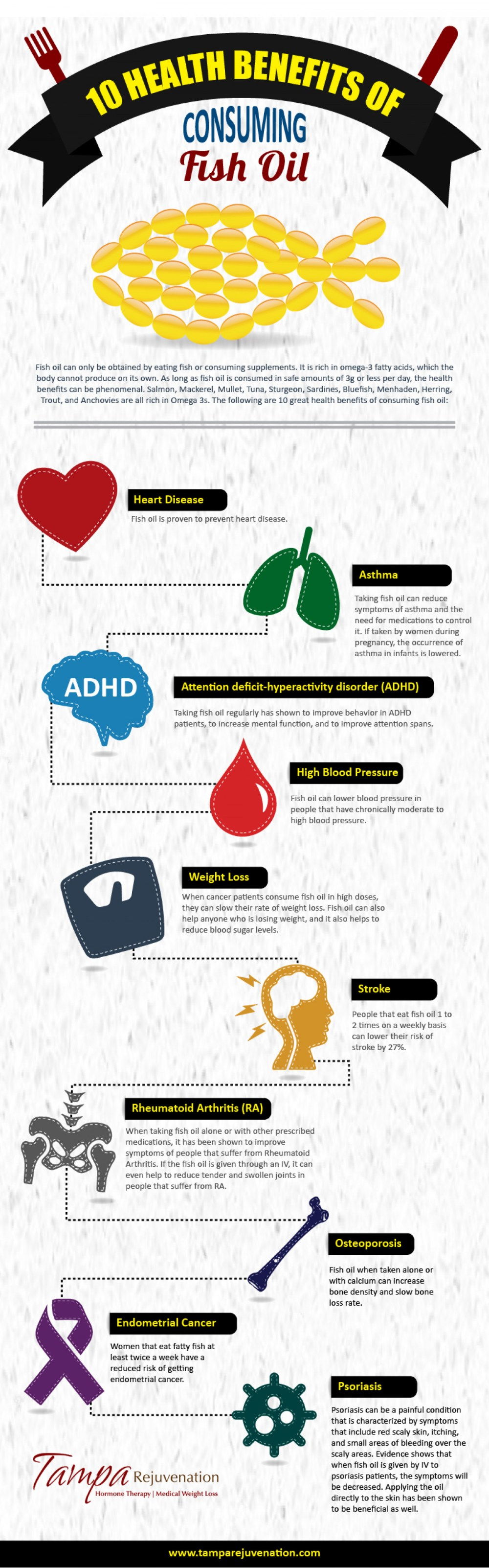 medium resolution of 10 health benefits of consuming fish oil infographic