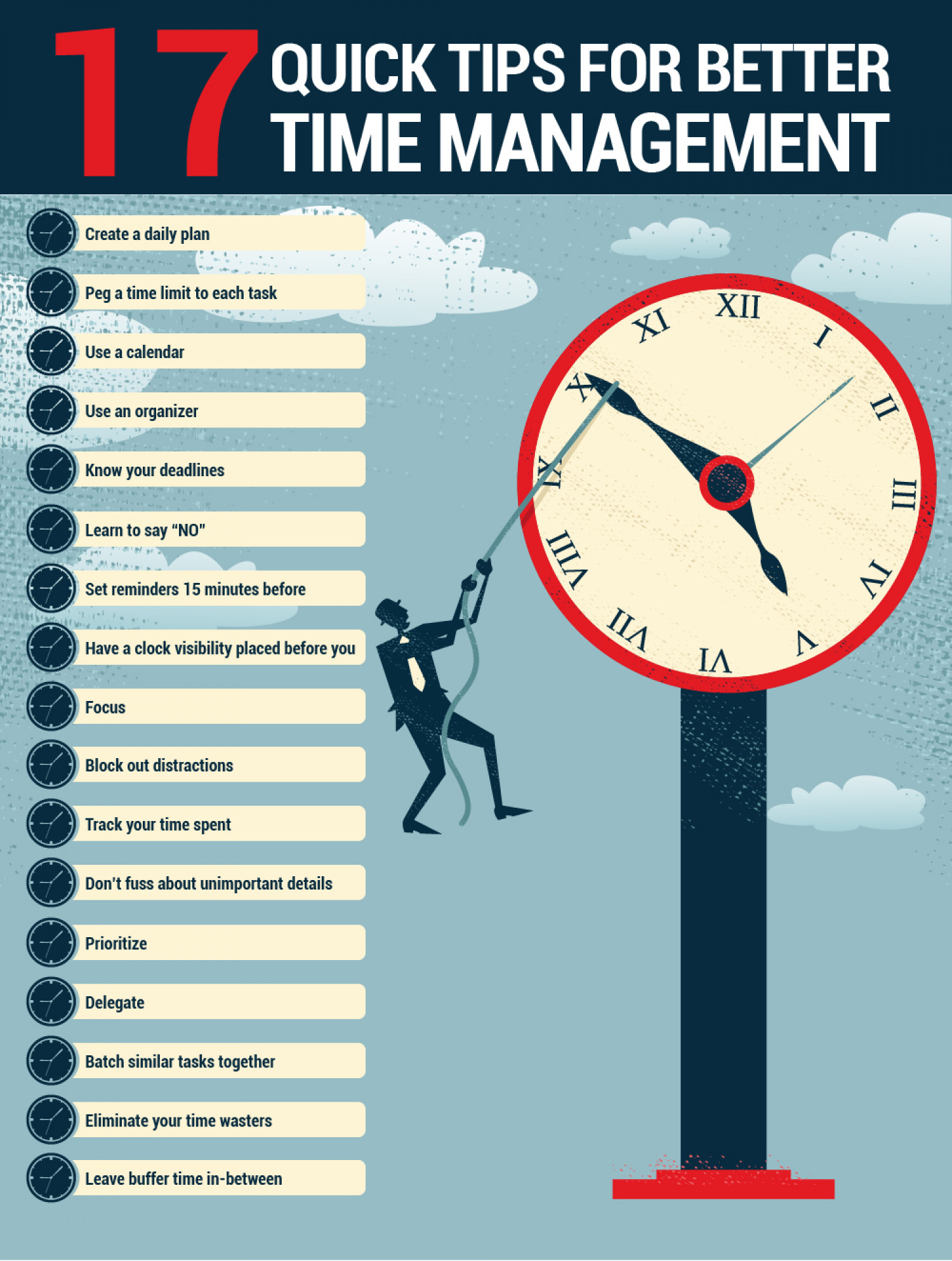 17 Quick Tips For Better Time Management