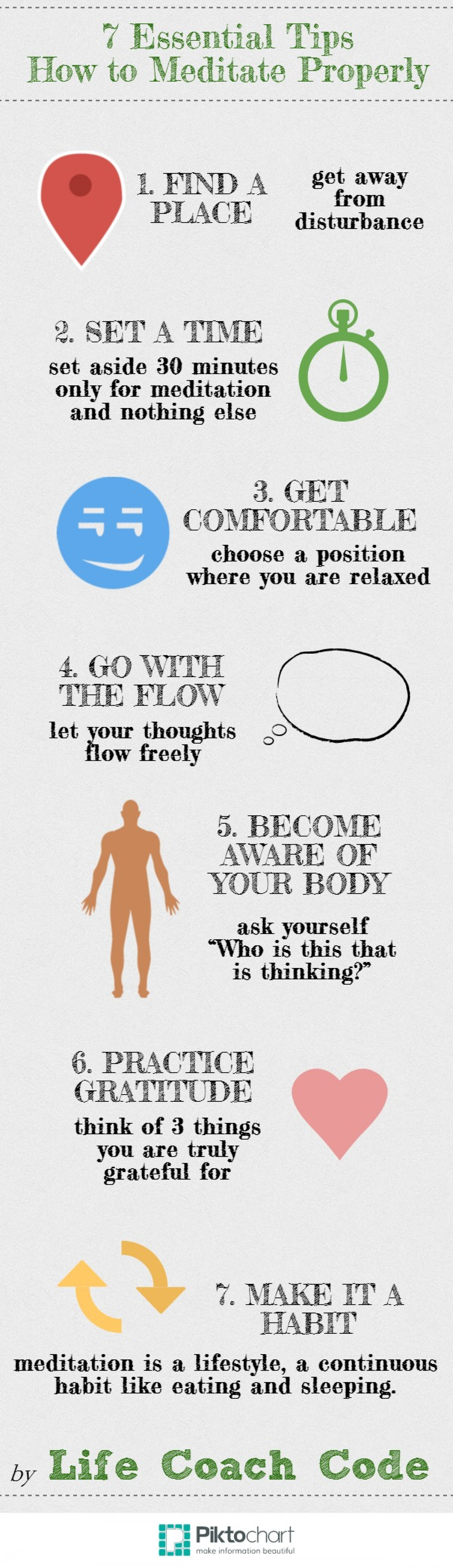 7 Essential Tips How to Meditate Properly | Visual.ly