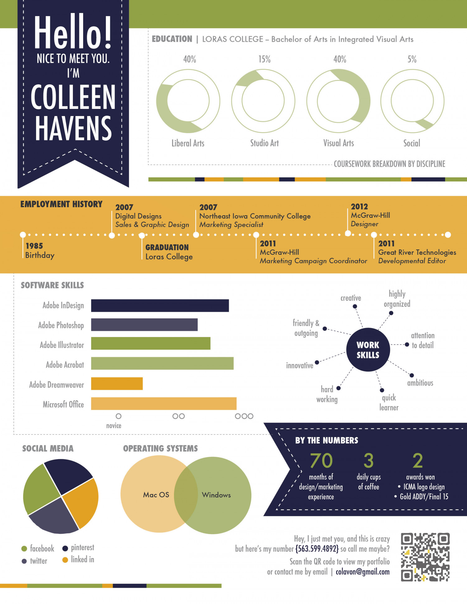 Resume Infographic Visual Resume Visual Ly
