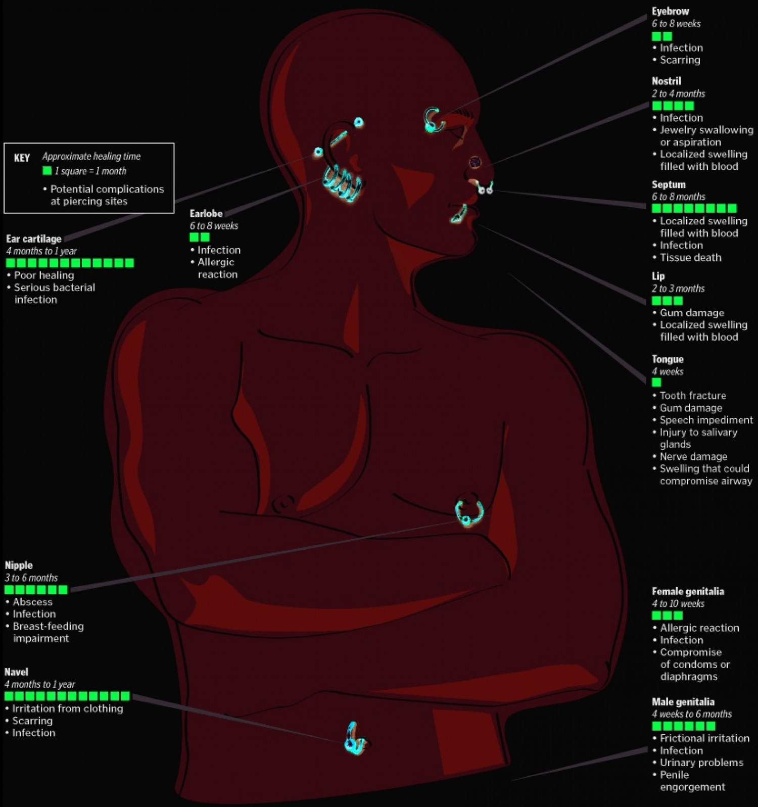 different ear piercings diagram life balance types of cartilage tongue