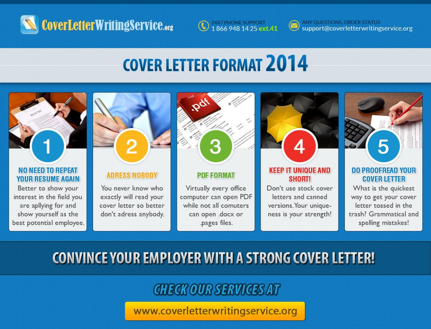 Cover Letter Format 2014  Visually