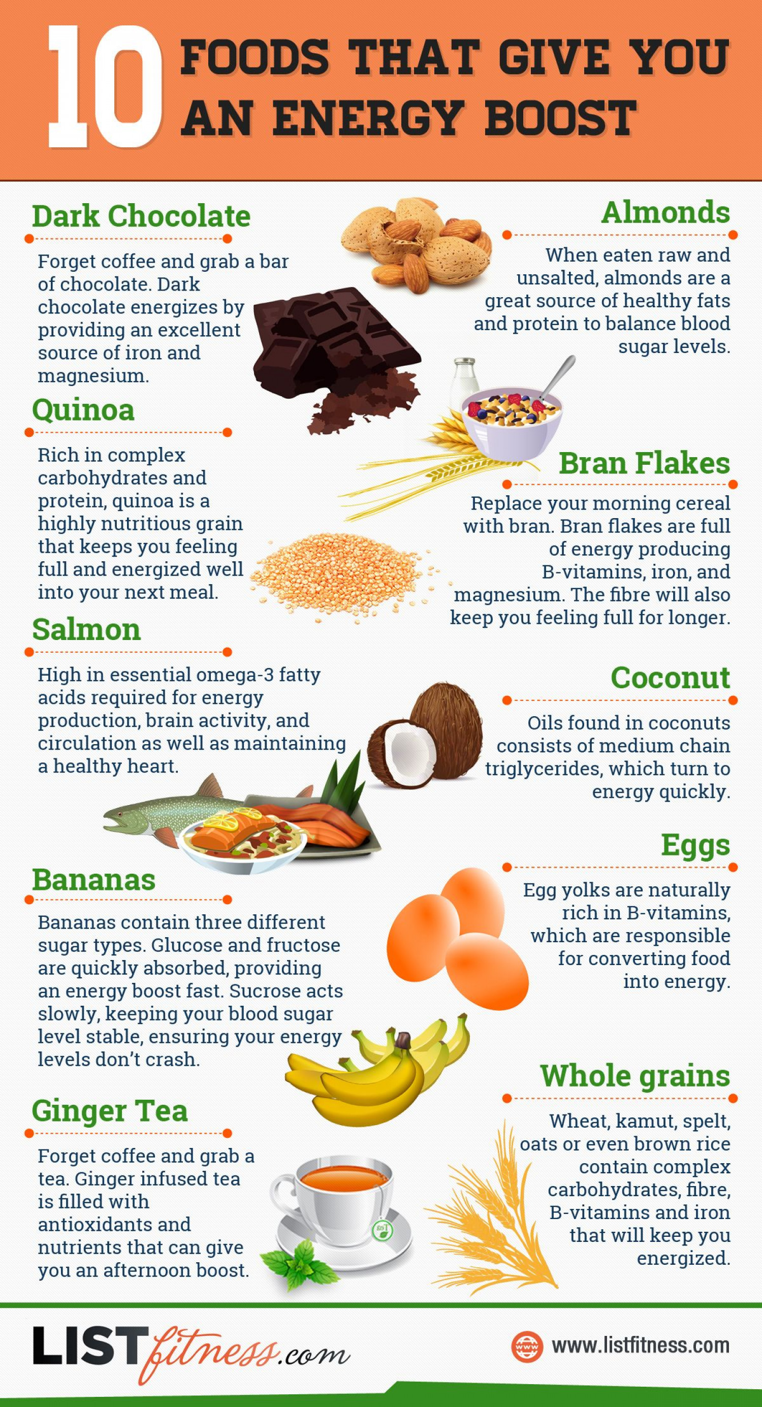 Discover 10 Foods That Give You An Energy Boost