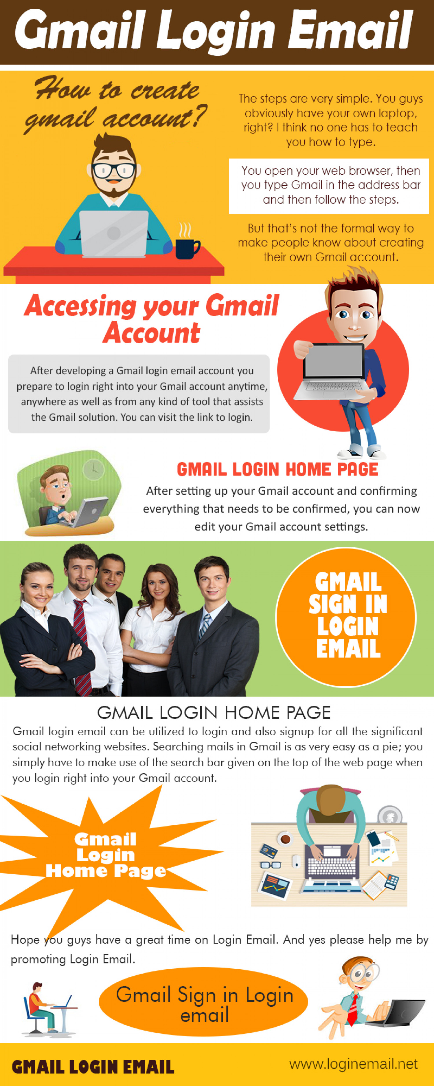 gmail login Infographic