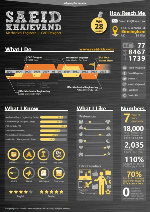 Infographic Resume Visual.ly