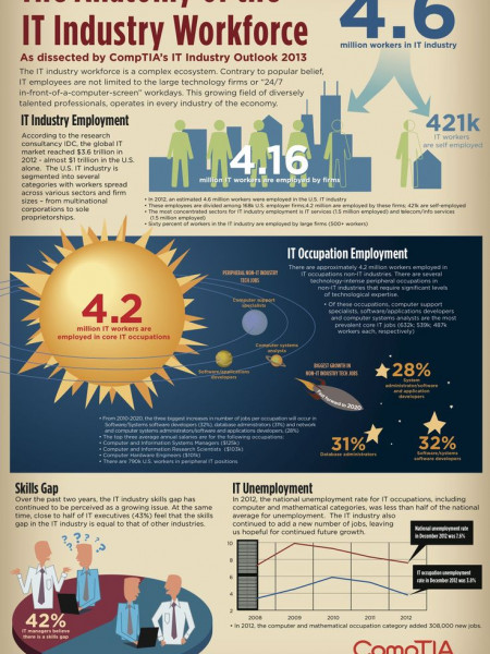IT industry Infographics Visually