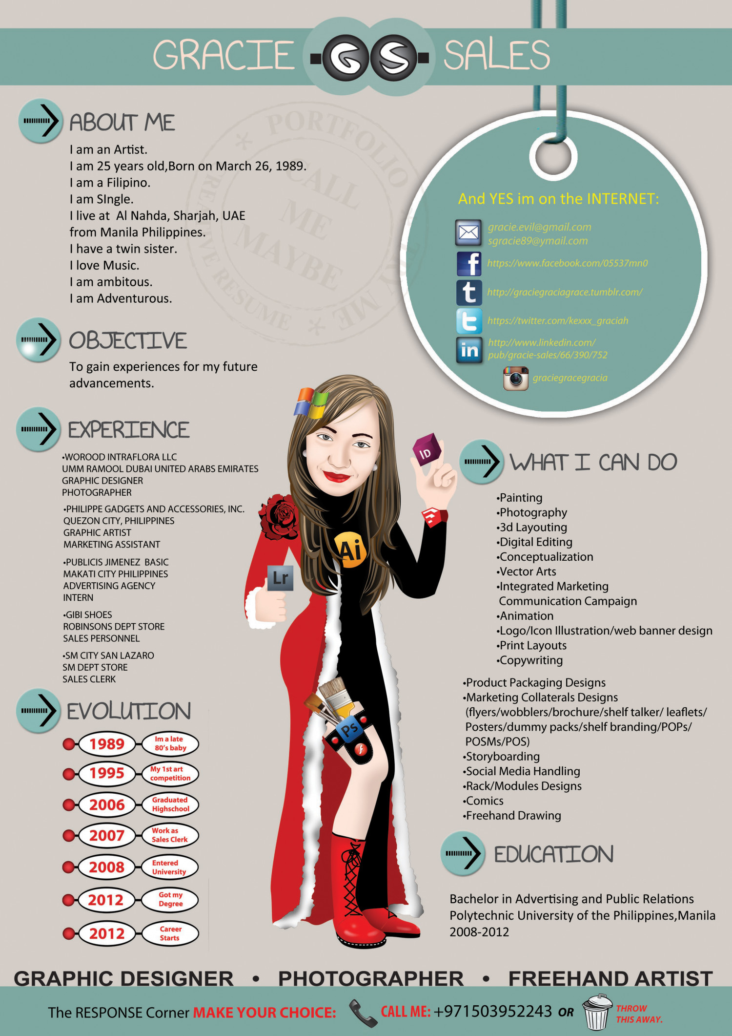 Creative Resume Maker My Creative Resume Visual Ly
