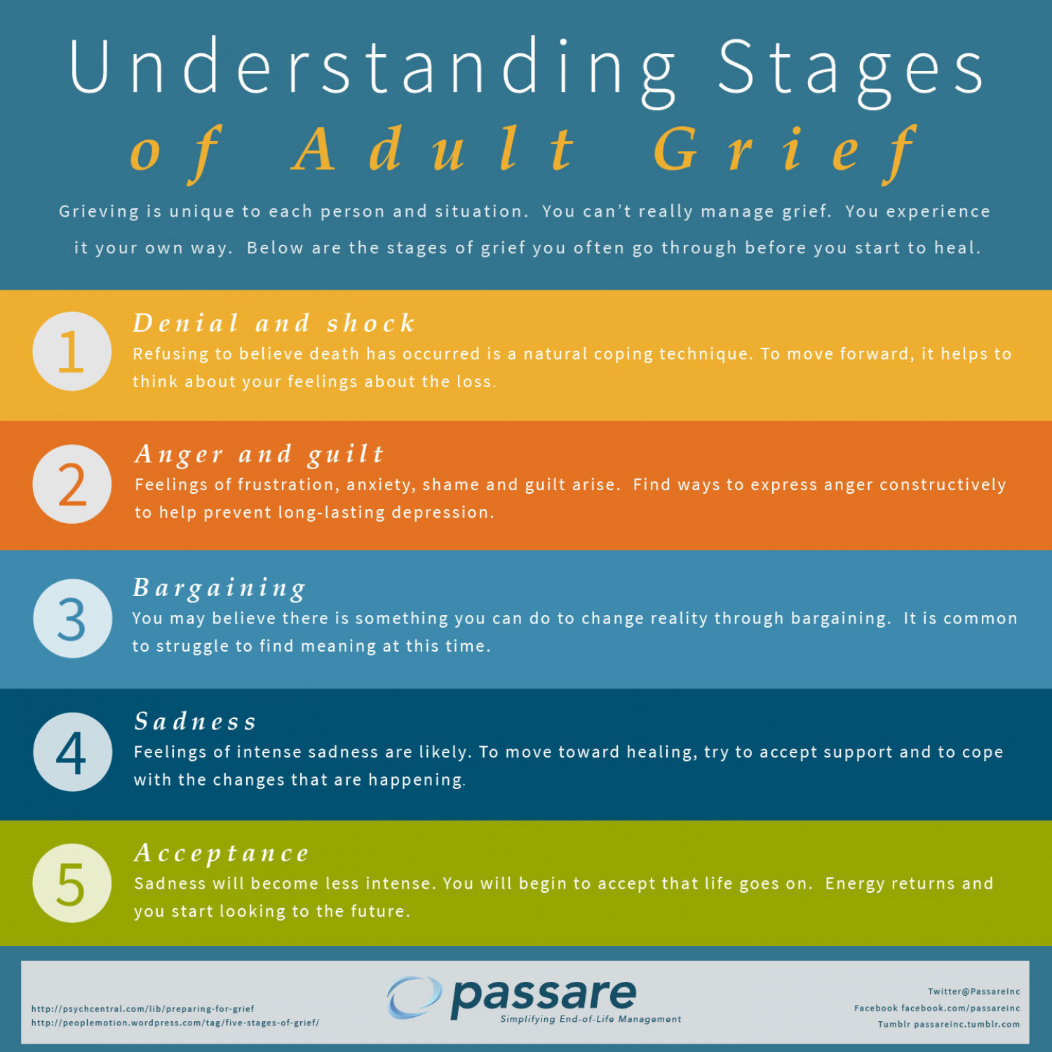 Stages Of Adult Grief