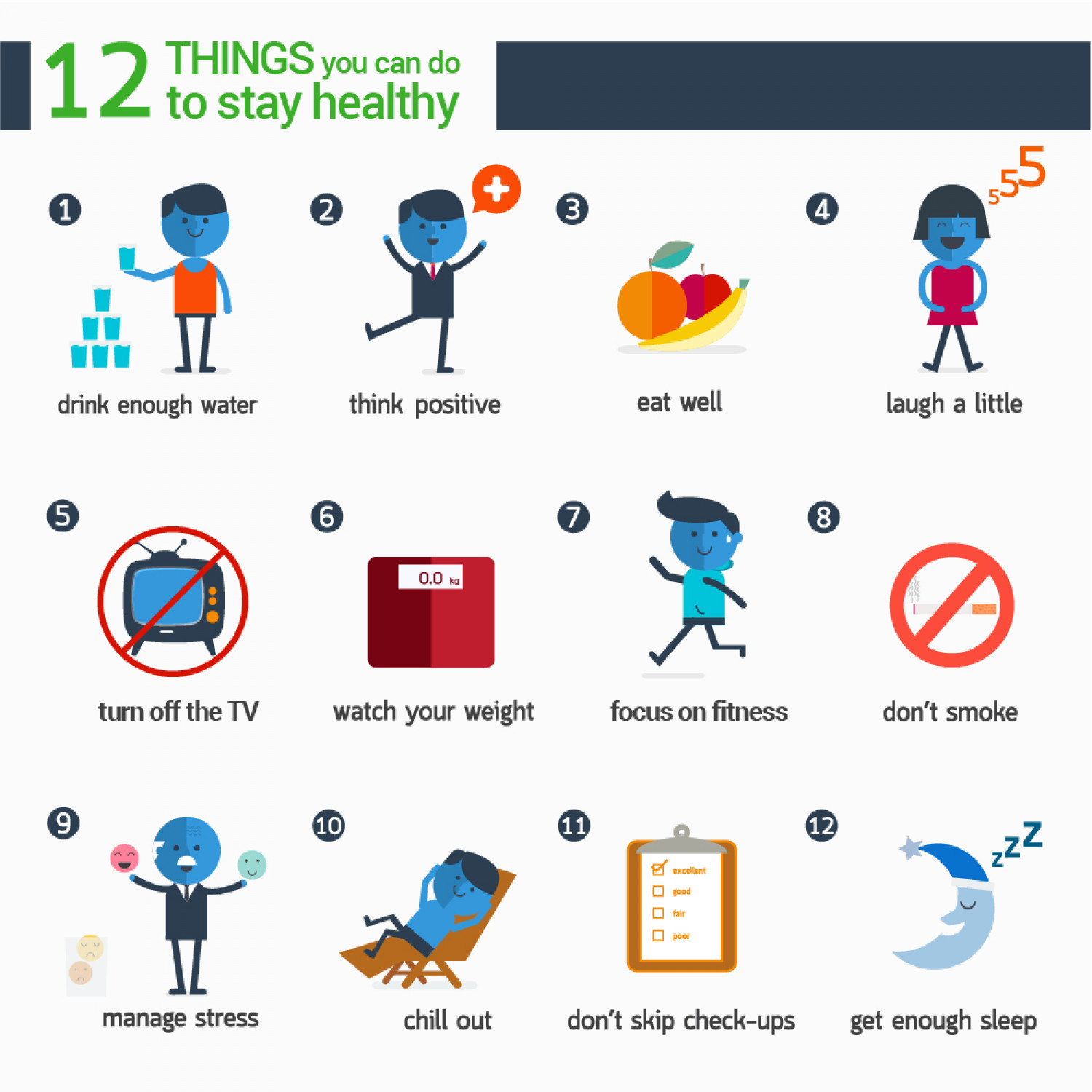 12 Things You Can Do To Stay Healthy