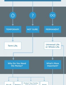 Types of life insurance flow chart infographic also visual rh