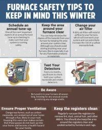 Winter Furnace Safety Tips | Visual.ly