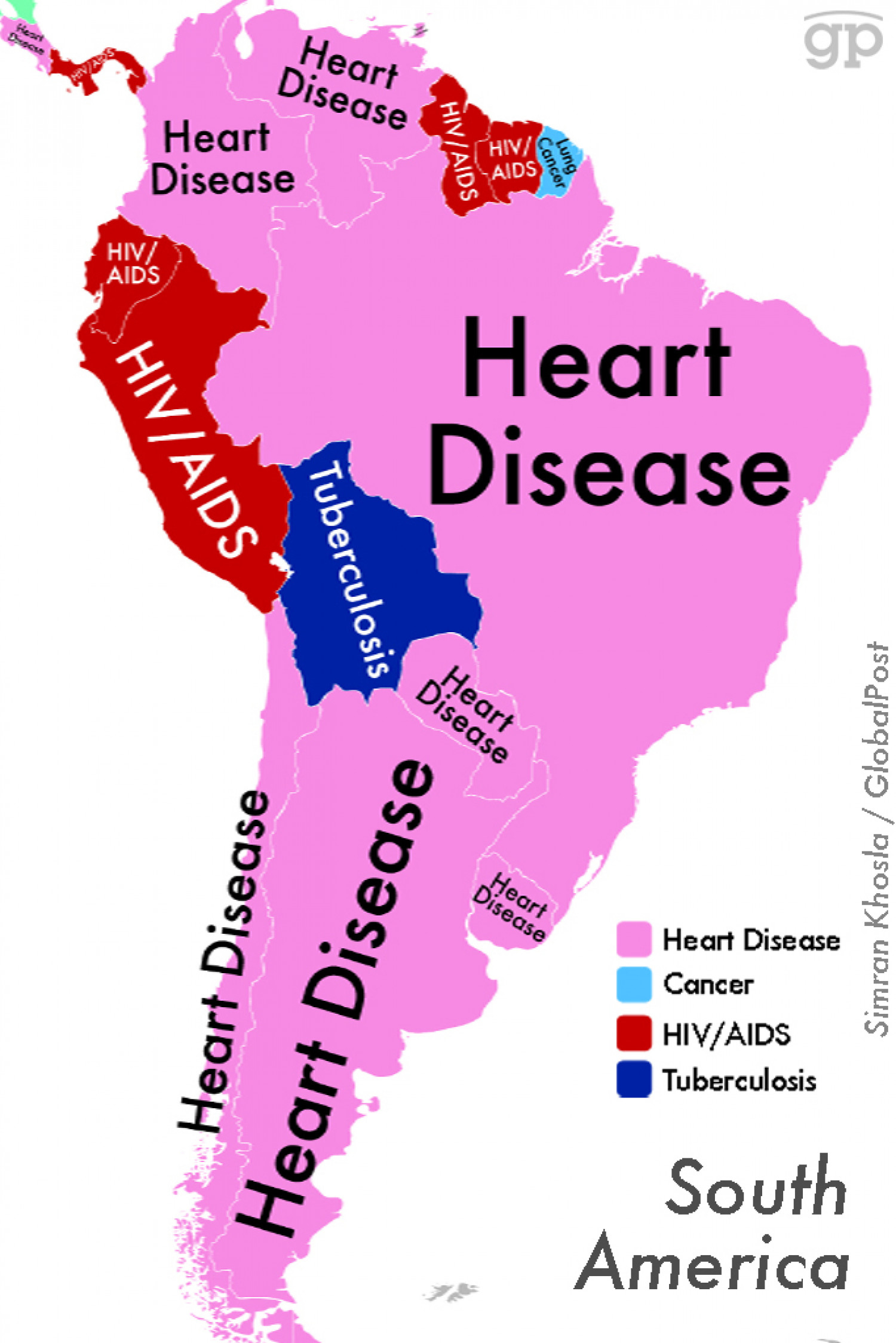 World Diseases (South America)   Visual.ly