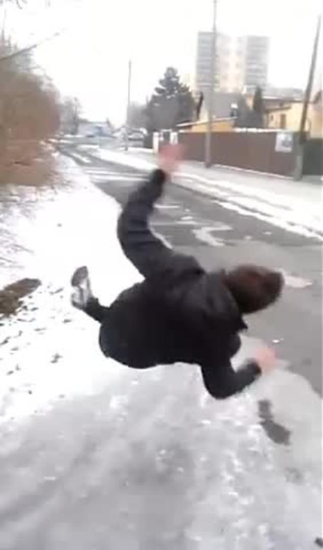 Guy Slips and Falls on Ice  Jukin Media Inc