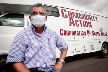 Ricardo Garcia, driver of the Community Action Health Centers mobile unit. Nov. 13, 2020.