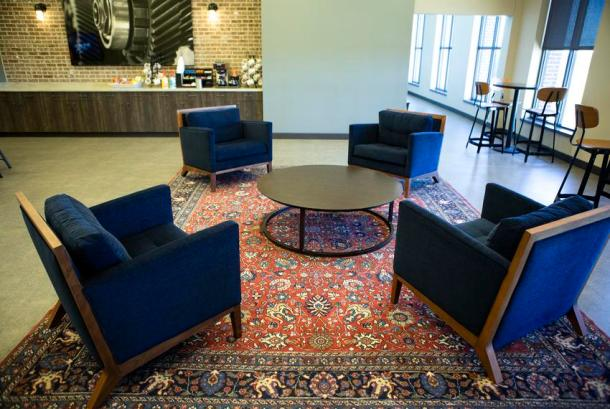 A lobby at Texas State Technical College's John B. Connally building in Waco on Jan. 24, 2019.