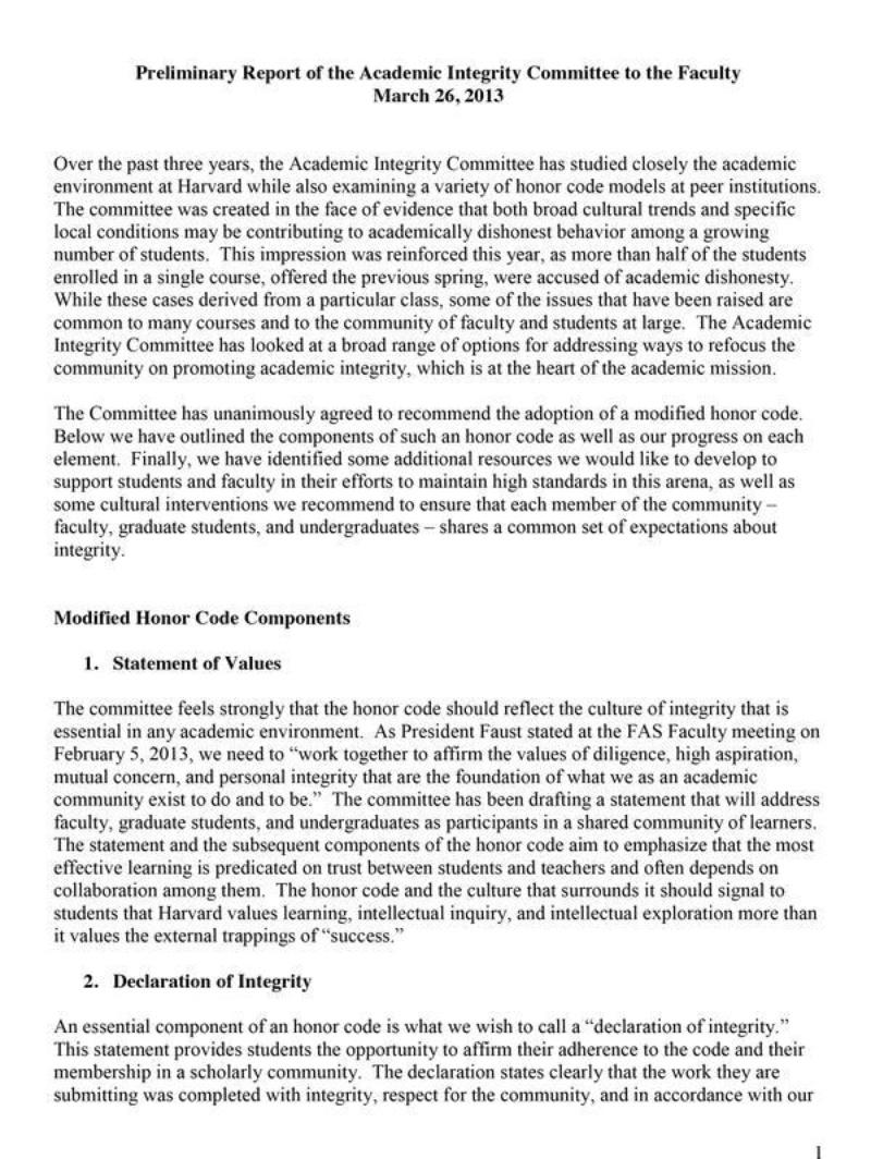 Harvard Seeks Feedback on Honor Code Proposal  News  The