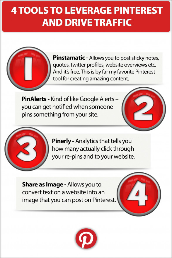 4 Tools to Leverage Pinterest and Drive Traffic