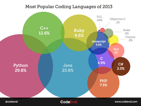 Most Popular Programming Languages of 2013