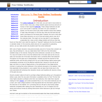 freeonlinetextbooks net at wi