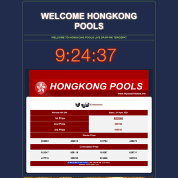 Welcome To Hongkong Pools Live Draw Data Hk 6d - Terkait Data