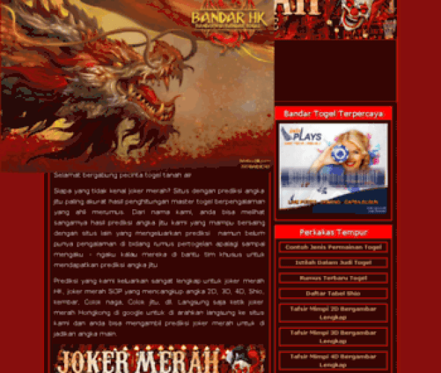 Jokermerah Club At Wi Jokermerah Club Joker Merah Hongkong