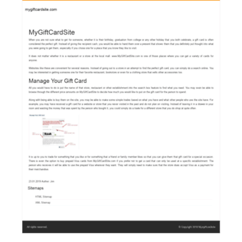 mygiftcardsite info at wi