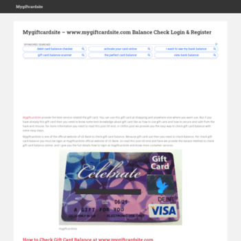 mygiftcardsite online at wi