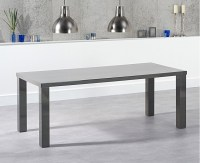 A sleek and minimalist high-gloss dining set, the Atlanta ...