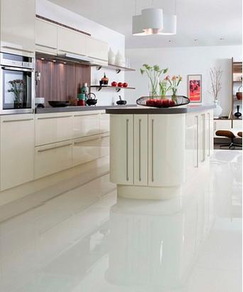 polished white wall floor tile
