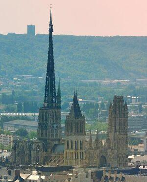 Les Plus Grandes Cathédrales De France : grandes, cathédrales, france, France, Records, Grande, église,, Cathédrale, Rouen, Parisien