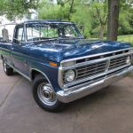 Hemmings Auctions One Owner Well Optioned 1973 Ford F 250 Custom Styleside Ranger Camper Special