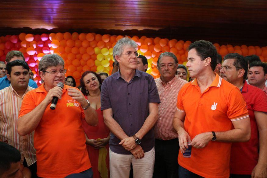 ricardo coutinho joao azevedo veneziano psb - PSB antecipa data da convenção que confirmará João Azevedo como pré-candidato a governador
