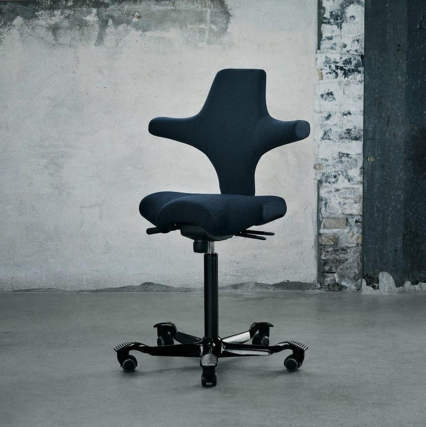 hag posture chair how to make a cover fully s tic toc and capisco chairs inspire movement ergonomic longevity