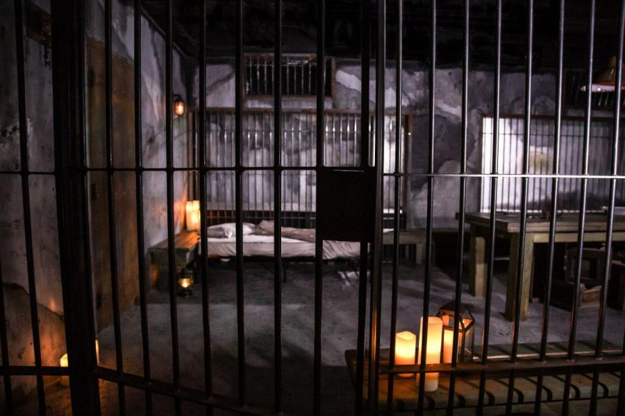 Prison Lock-Up Fantasy Available in Alcatraz Suite At San Francisco Dungeon For Halloween Only